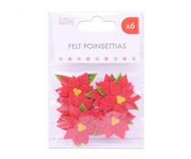 Simply Creative Basics Felt Poinsettias (SCTOP060X19)