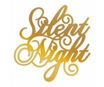 Couture Creations Silent Night Sentiment Hotfoil Stamp (CO726921)
