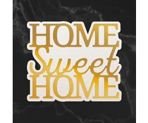 Couture Creations Home Sweet Home Sentiment Mini Cut, Foil and Emboss Die (CO726728)
