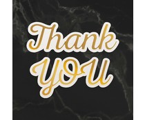 Couture Creations Thank You Sentiment Mini Cut, Foil and Emboss Die (CO726729)