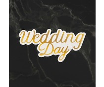 Couture Creations Wedding Day Sentiment Mini Cut, Foil and Emboss Die (CO726730)