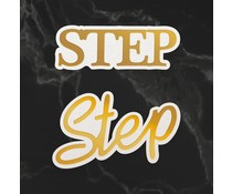 Couture Creations Step Sentiment Mini Cut, Foil and Emboss Dies (CO726732)
