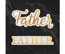 Couture Creations Father Sentiment Mini Cut, Foil and Emboss Dies (CO726736)