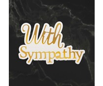 Couture Creations With Sympathy Sentiment Mini Cut, Foil and Emboss Die (CO726738)