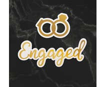 Couture Creations Engaged Sentiment & Rings Mini Cut, Foil and Emboss Dies (CO726740)