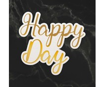 Couture Creations Happy Day Sentiment Mini Cut, Foil and Emboss Die (CO726741)