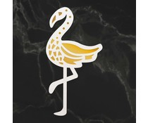 Couture Creations Flamingo Silhouette Mini Cut, Foil and Emboss Die (CO726742)