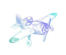 Couture Creations Men's Collection Airplane Mini Clear Stamp (CO726791)