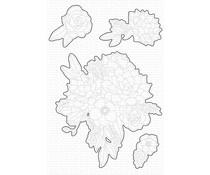 My Favorite Things Fantasy Florals Die-namics (MFT-1656)