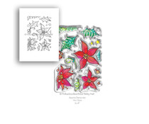 Polkadoodles Perfect Poinsettias Clear Stamps (PD7988)