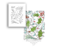 Polkadoodles Ho Ho Holly Clear Stamps (PD7989)
