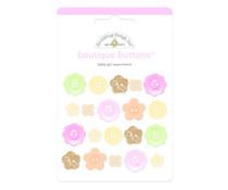 Doodlebug Design Baby Girl Boutique Buttons (20pcs) (3217)