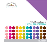 Doodlebug Design Jewel 12x12 Inch Textured Cardstock Pack (3589)