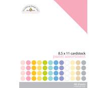 Doodlebug Design Pastel 8.5x11 Inch Textured Cardstock Pack (3594)