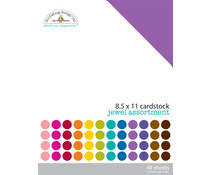 Doodlebug Design Jewel 8.5x11 Inch Textured Cardstock Pack (3595)