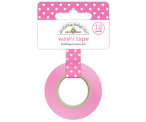 Doodlebug Design Bubblegum Swiss Dot Wshi Tape (3649)