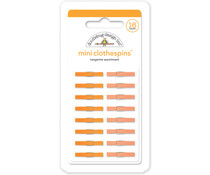 Doodlebug Design Tangerine Mini Clothespins (16pcs) (4442)