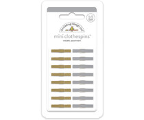 Doodlebug Design Metallic Mini Clothespins (16pcs) (4450)