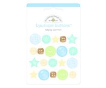 Doodlebug Design Baby Boy Boutique Buttons (20pcs) (3216)