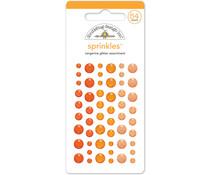 Doodlebug Design Tangerine Glitter Sprinkles (54pcs) (4536)