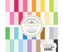 Doodlebug Design Rainbow 6x6 Inch Swiss Dot Petite Print Paper Pad (5449)