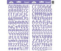 Doodlebug Design Lilac Abigail Stickers (5817)