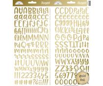 Doodlebug Design Gold Foil Abigail Stickers (5822)