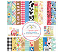 Doodlebug Design Down on the Farm 12x12 Inch Paper Pack (5996)