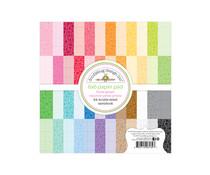 Doodlebug Design Floral-Graph Rainbow 6x6 Inch Petite Prints Paper Pad (6134)