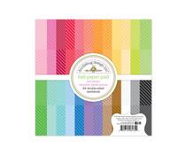 Doodlebug Design Dot-Stripe Rainbow 6x6 Inch Petite Prints Paper Pad (6135)