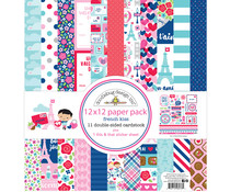 Doodlebug Design French Kiss 12x12 Inch Paper Pack (6276)
