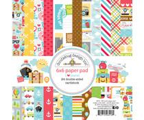 Doodlebug Design I Love Travel 6x6 Inch Paper Pad (6416)