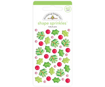 Doodlebug Design Holly & Pine Shape Sprinkles (42pcs) (6444)