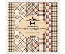 Dixi Craft Plaid Pattern 6x6 Inch Paper Pack (PF112)