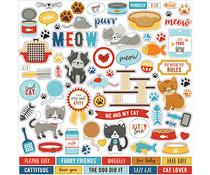 Echo Park I Love My Cat 12x12 Inch Element Sticker (LMC199014)