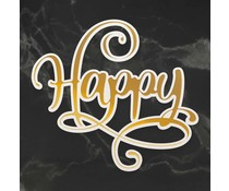 Couture Creations Happy Cut, Foil and Emboss Die (CO726956)