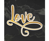 Couture Creations Love Cut, Foil and Emboss Die (CO726960)