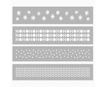 My Favorite Things Winter Stencil Strips Stencil (ST-127)