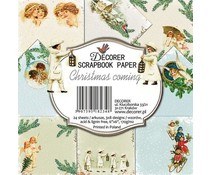 Decorer Christmas Coming 6x6 Inch Paper Pack (DECOR-C31-234)