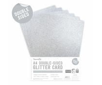 Dovecraft Double Sided Glitter Pack A4 Silver (DCGCD036)