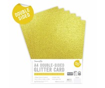 Dovecraft Double Sided Glitter Pack A4 Gold (DCGCD035)