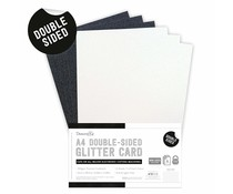 Dovecraft Double Sided Glitter Pack A4 Black & White (DCGCD038)
