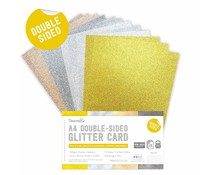 Dovecraft Double Sided Glitter Bumper Pack A4 Metallic (DCGCD039)