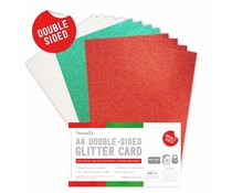 Dovecraft Double Sided Glitter Bumper Pack A4 Festive (DCGCD040)