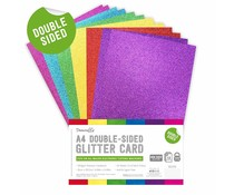 Dovecraft Double Sided Glitter Bumper Pack A4 Rainbow Bright (DCGCD041)