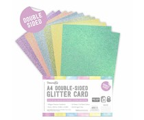 Dovecraft Double Sided Glitter Bumper Pack A4 Rainbow Pastels (DCGCD042)