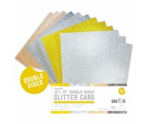Dovecraft Double Sided Glitter Bumper Pack 12x12 Inch Metallics (DCGCD043)