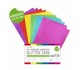 Dovecraft Adhesive Glitter Sheets A5 Rainbow Bright (DCGCD045)