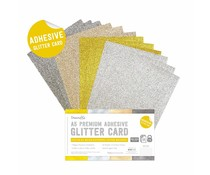 Dovecraft Adhesive Glitter Sheets A5 Metallic (DCGCD046)