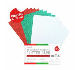 Dovecraft Adhesive Glitter Sheets A5 Festive (DCGCD047)